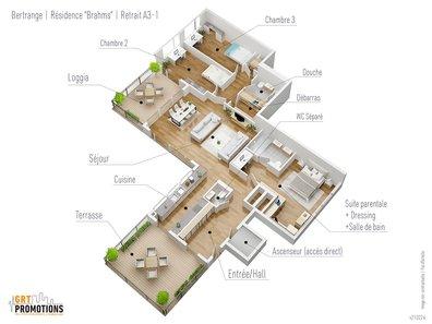 Penthouse à vendre 3 Chambres à Bertrange - Réf. 7114870