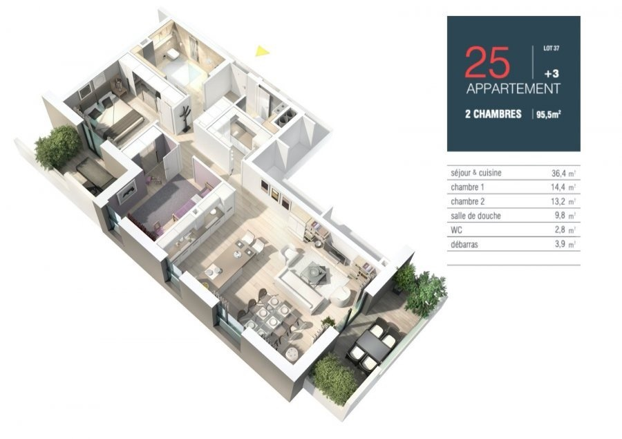 apartment for buy 2 bedrooms 105.25 m² strassen photo 4