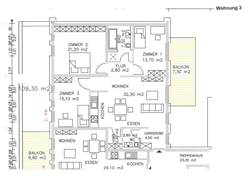 acheter appartement 3 pièces 88.8 m² trier photo 3