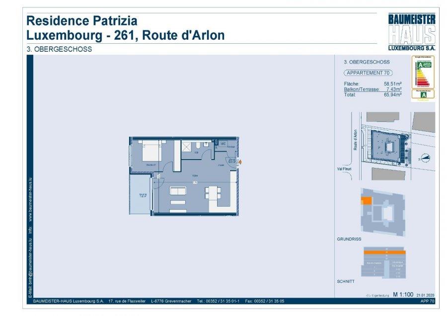 acheter penthouse 1 chambre 61.48 m² luxembourg photo 7