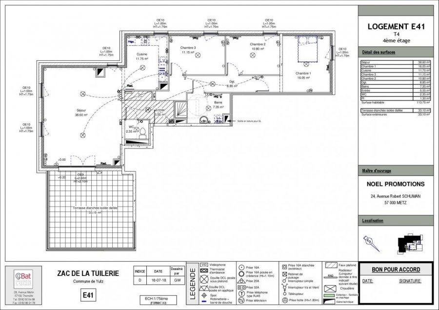 acheter appartement 4 pièces 113 m² yutz photo 1