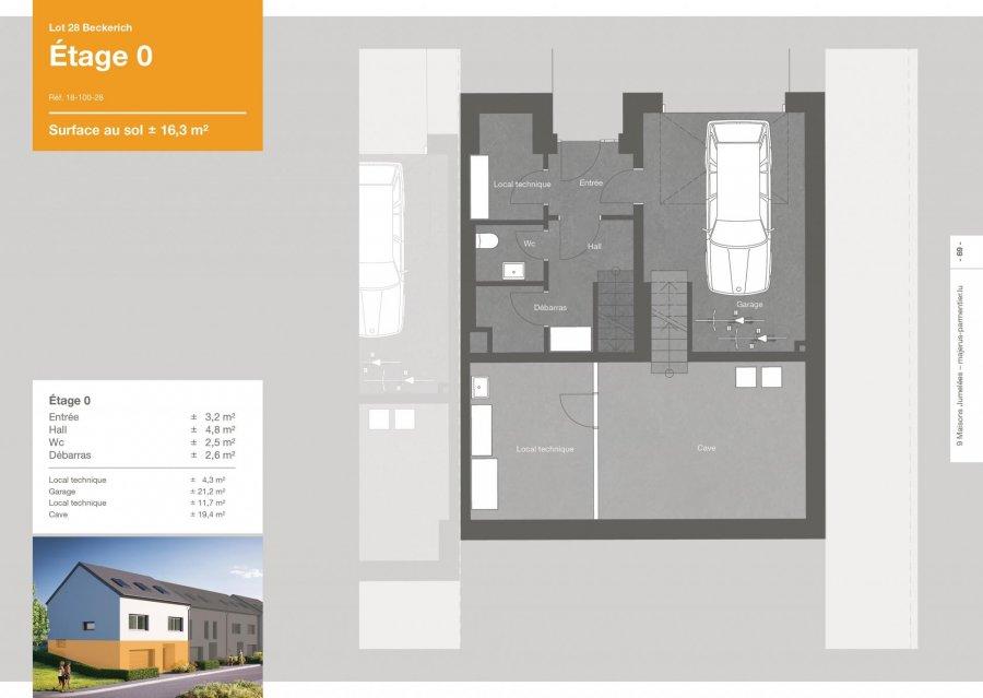 acheter maison jumelée 3 chambres 163.6 m² beckerich photo 3