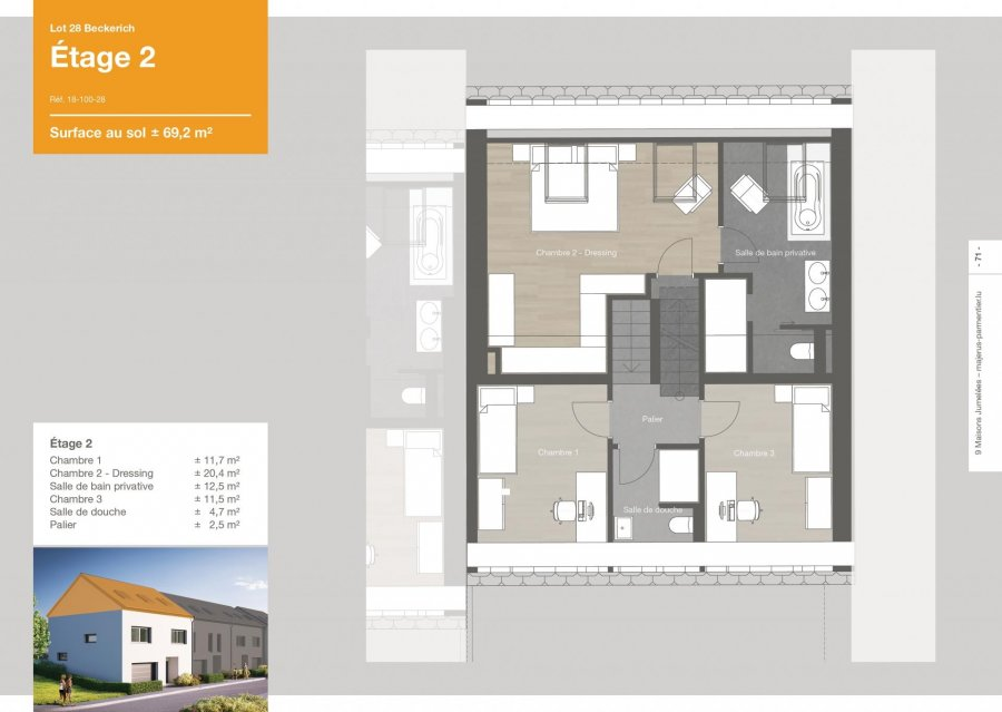 acheter maison jumelée 3 chambres 163.6 m² beckerich photo 5