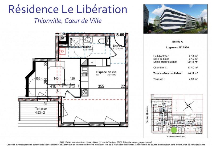 acheter appartement 2 pièces 40.17 m² thionville photo 2