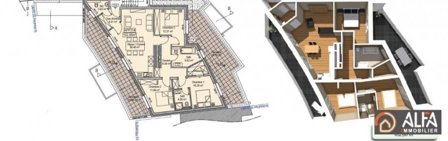 acheter appartement 2 chambres 102.96 m² tetange photo 7