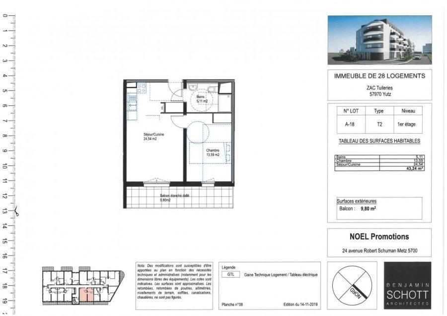 acheter appartement 2 pièces 43 m² yutz photo 1