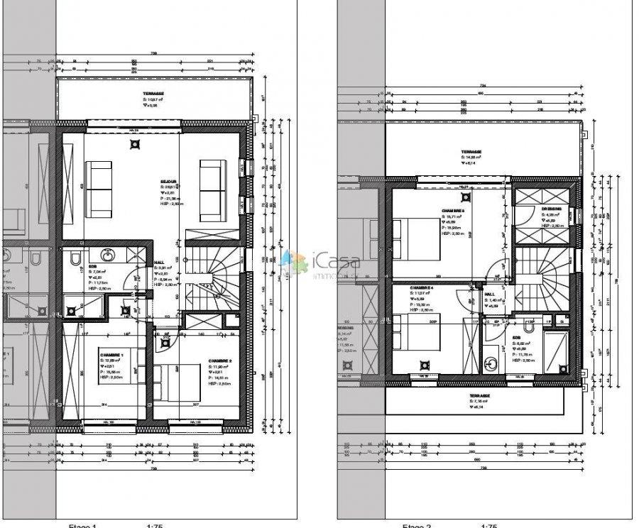 Maison jumelée à vendre 4 chambres à Hupperdange