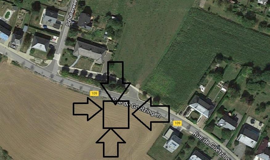 Terrain constructible à vendre à Goeblange
