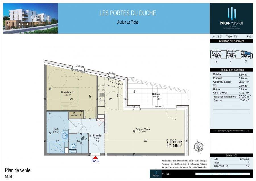 Appartement à vendre 1 chambre à Audun-le-tiche