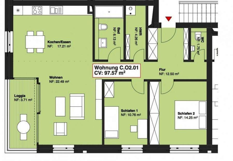 Appartement à vendre 2 chambres à Wasserbillig