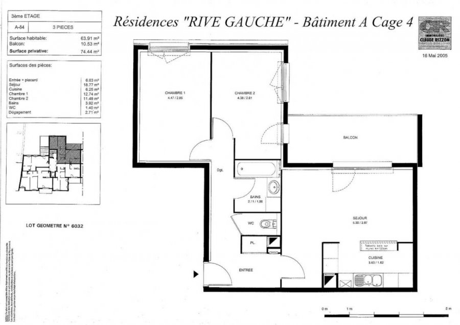 louer appartement 3 pièces 63 m² nancy photo 2