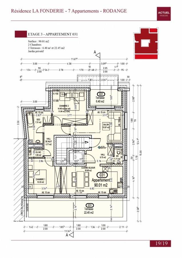 acheter penthouse 2 chambres 105 m² rodange photo 2