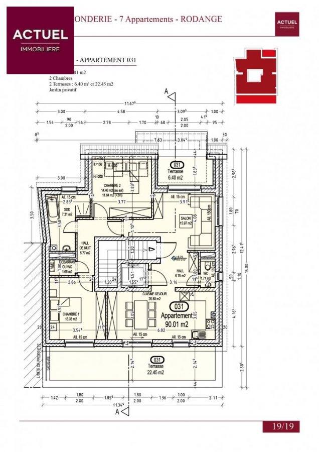 acheter penthouse 1 chambre 105 m² rodange photo 3