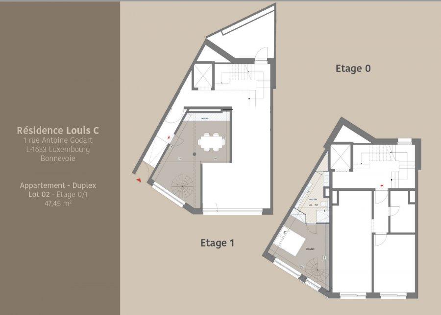 acheter duplex 1 chambre 47.45 m² luxembourg photo 2