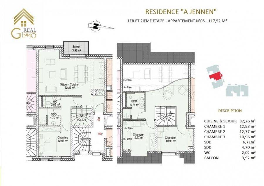 acheter duplex 3 chambres 117.52 m² moutfort photo 7