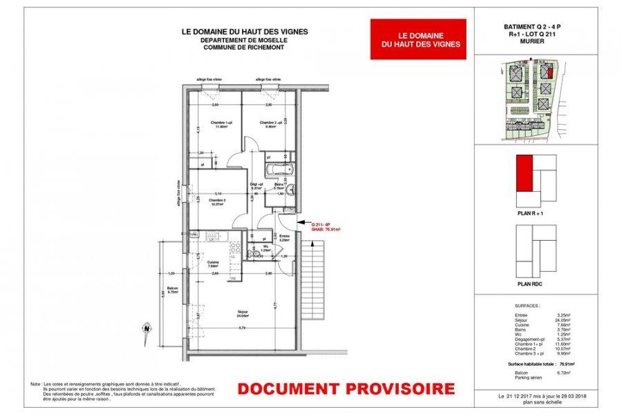 acheter appartement 4 pièces 77 m² richemont photo 3
