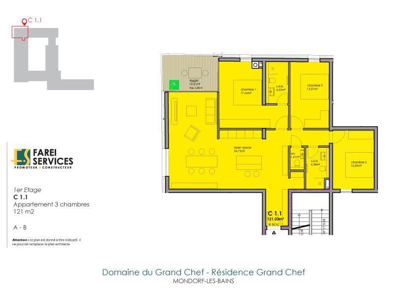 apartment for buy 3 bedrooms 121 m² mondorf-les-bains photo 2