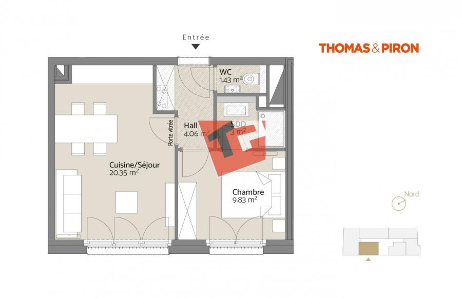 acheter appartement 1 chambre 40.06 m² luxembourg photo 2