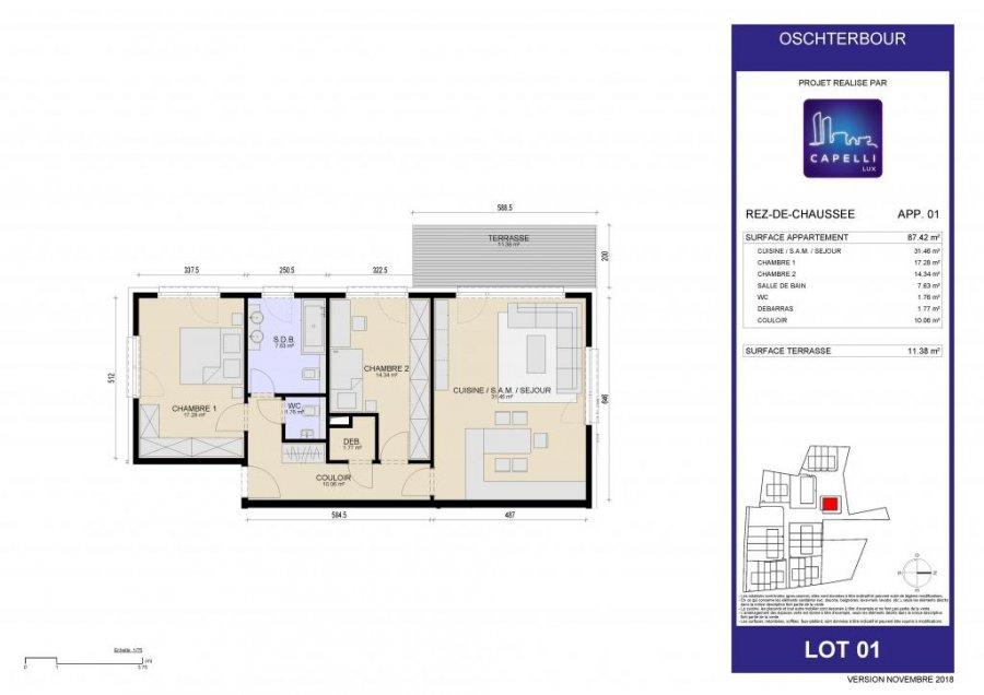 acheter appartement 2 chambres 87.42 m² differdange photo 6