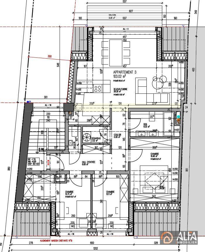 acheter penthouse 3 chambres 103 m² rodange photo 3