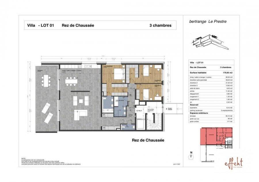 acheter appartement 3 chambres 179.95 m² bertrange photo 3