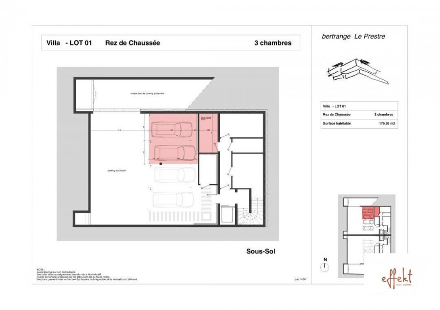 acheter appartement 3 chambres 179.95 m² bertrange photo 4