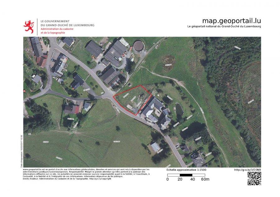 Terrain constructible à vendre à Boevange (Clervaux)