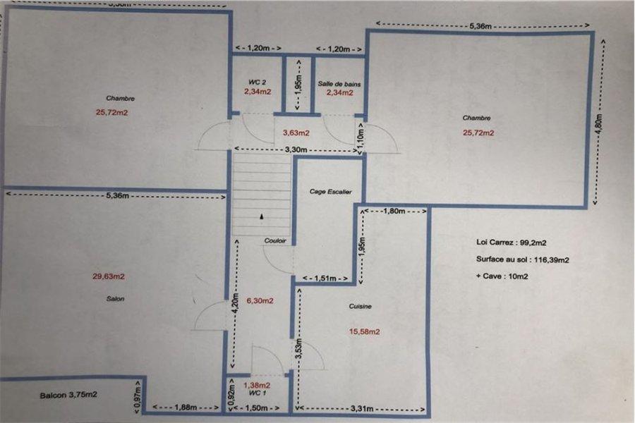 acheter duplex 3 pièces 100 m² haucourt-moulaine photo 4