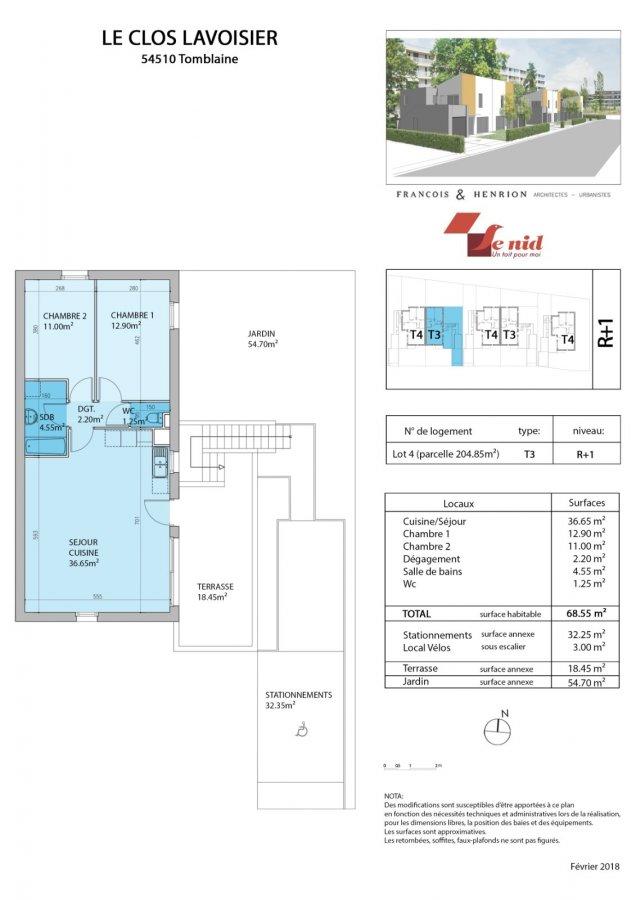 acheter appartement 3 pièces 68 m² tomblaine photo 4