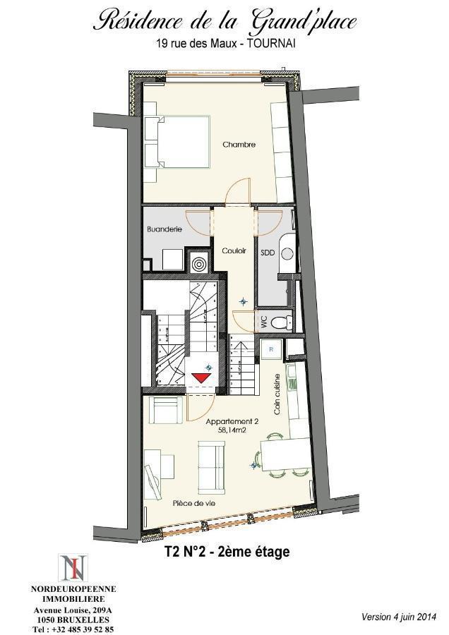 acheter appartement 2 pièces 58.14 m² lille photo 1