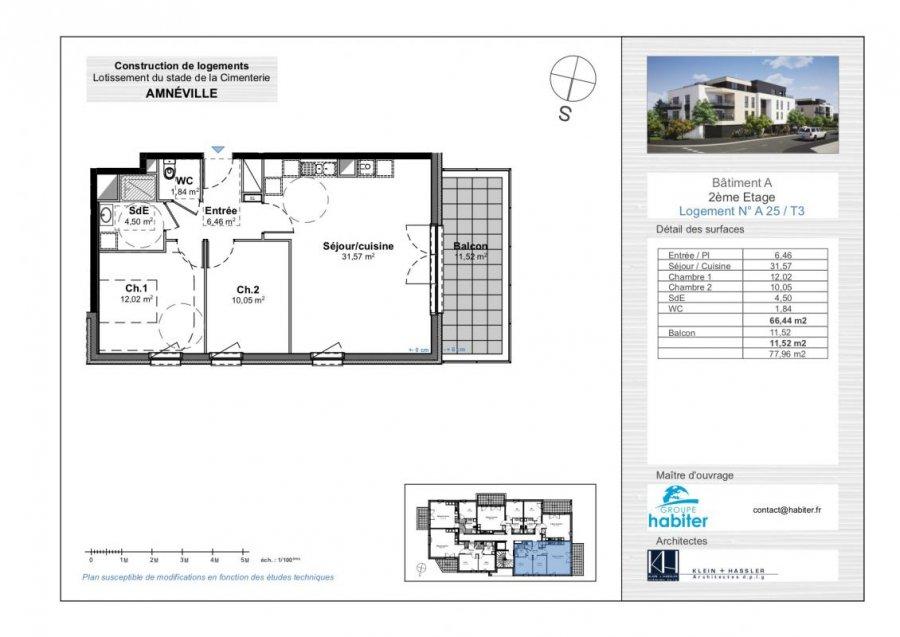 acheter appartement 3 pièces 66 m² amnéville photo 1