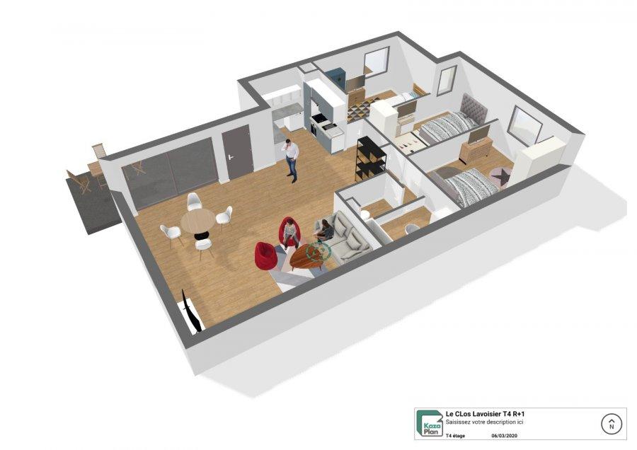 acheter appartement 4 pièces 81 m² tomblaine photo 2