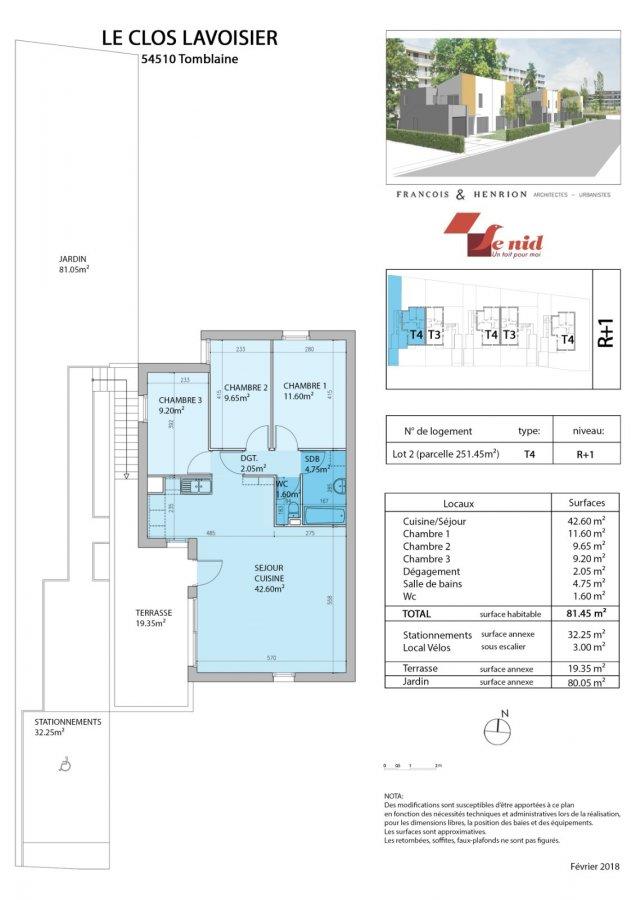 acheter appartement 4 pièces 81 m² tomblaine photo 4