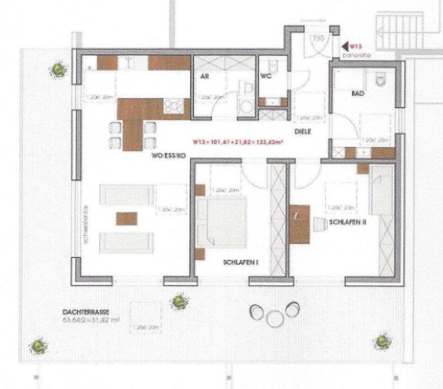 acheter penthouse 3 pièces 133.43 m² perl photo 2