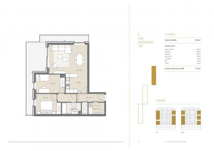 acheter appartement 2 chambres 93 m² differdange photo 4