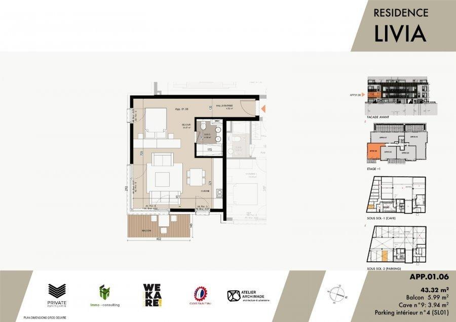 acheter studio 0 chambre 45.72 m² luxembourg photo 3