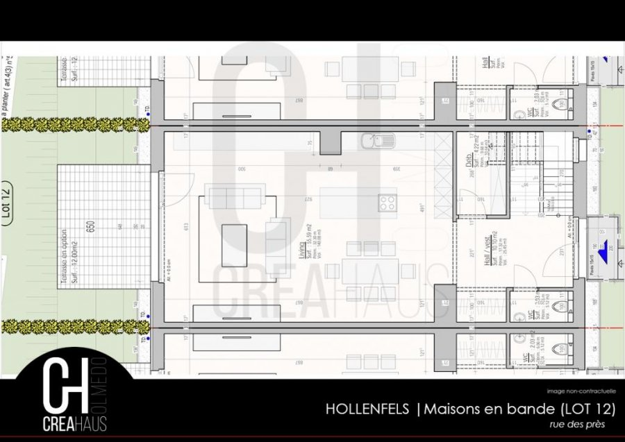 terraced for buy 3 bedrooms 139.76 m² hollenfels photo 4