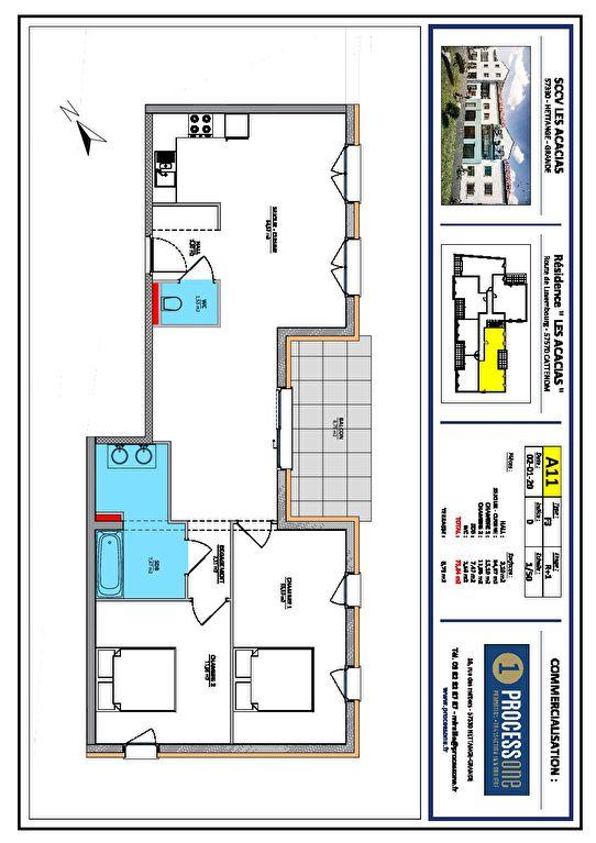acheter appartement 3 pièces 75.84 m² cattenom photo 1