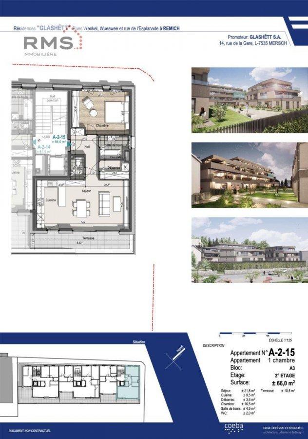 acheter appartement 1 chambre 65.96 m² remich photo 2