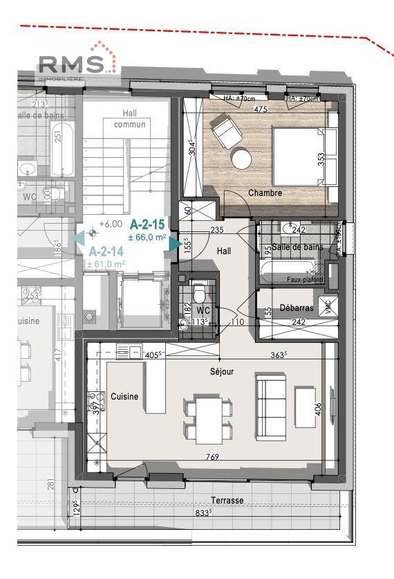acheter appartement 1 chambre 65.96 m² remich photo 3