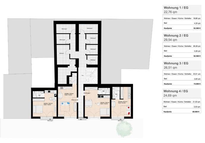 wohnung kaufen 1 zimmer 29.54 m² homburg foto 3