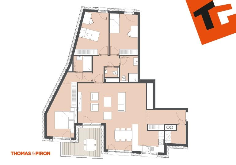 apartment for buy 3 bedrooms 115.08 m² schifflange photo 3