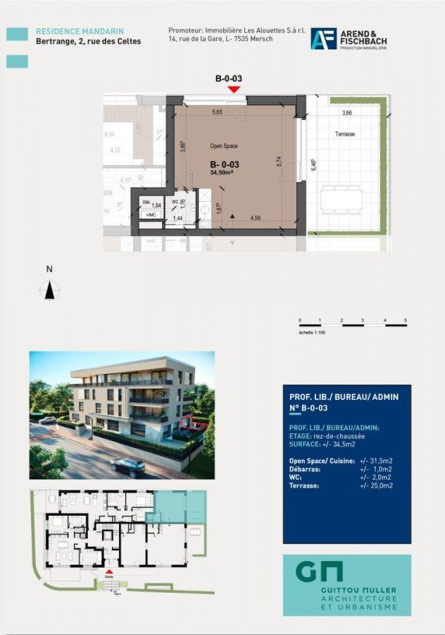 office for buy 0 bedroom 34.5 m² bertrange photo 2