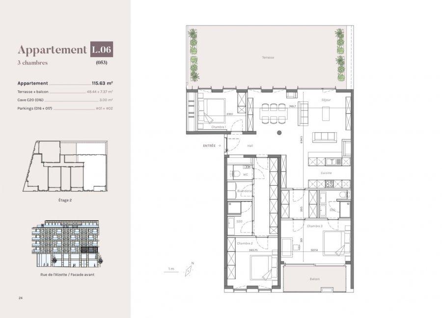 acheter appartement 3 chambres 115.63 m² esch-sur-alzette photo 1