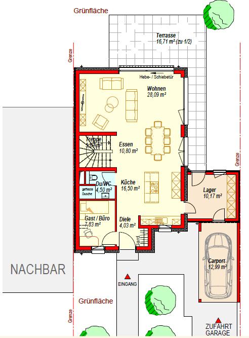 doppelhaushälfte kaufen 5 zimmer 195.4 m² konz foto 3
