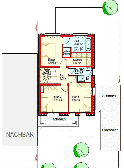 doppelhaushälfte kaufen 5 zimmer 195.4 m² konz foto 4