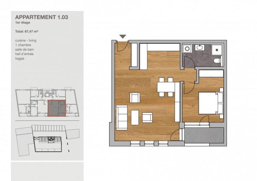 acheter appartement 1 chambre 67.47 m² clervaux photo 4