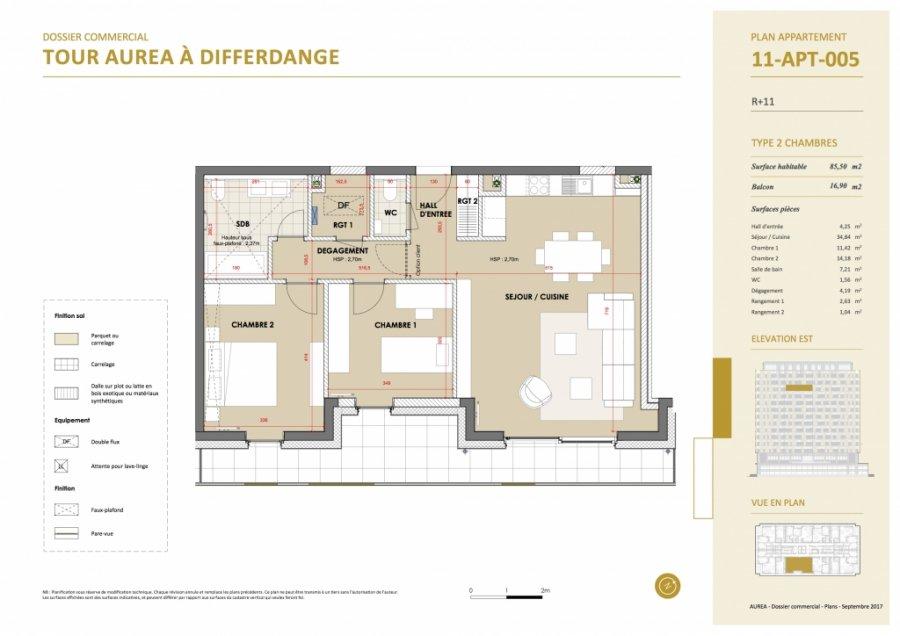 acheter appartement 2 chambres 85.5 m² differdange photo 2