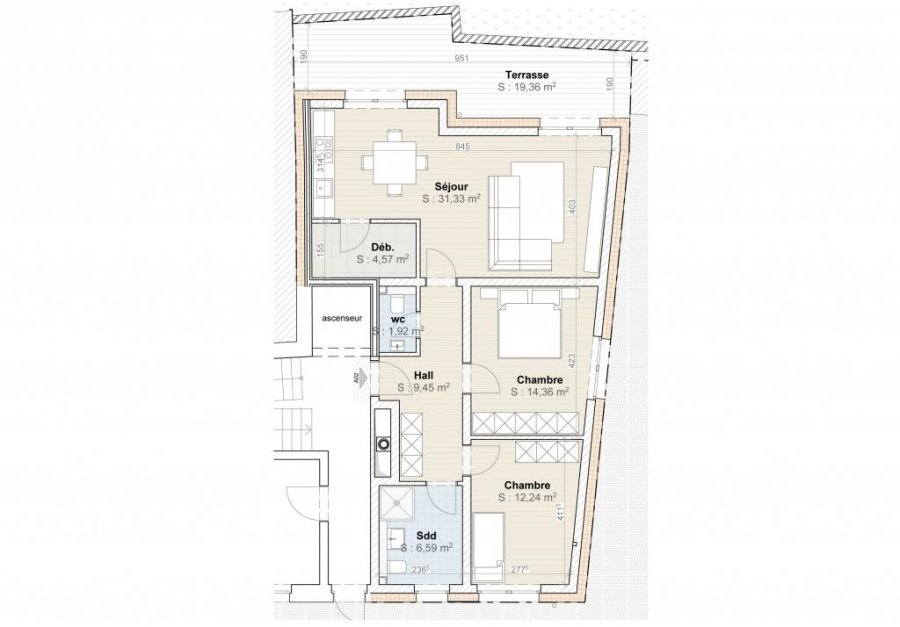 acheter appartement 2 chambres 81 m² diekirch photo 2