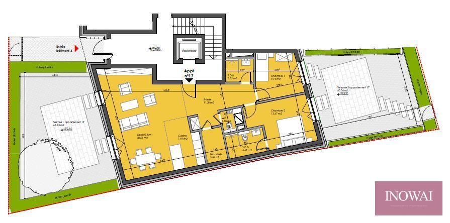 acheter appartement 2 chambres 92.6 m² berchem photo 2